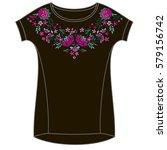 vector design for collar t... | Shutterstock .eps vector #579156742