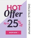 social media banner for online... | Shutterstock .eps vector #579157042