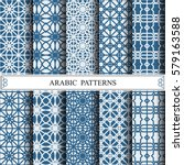 arabic vector pattern  web page ... | Shutterstock .eps vector #579163588