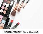makeup brush set with eye... | Shutterstock . vector #579167365