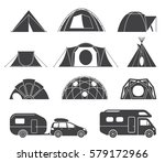 set of various designs of tents ... | Shutterstock .eps vector #579172966