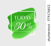 sale today 30  off sign over... | Shutterstock .eps vector #579176812