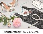 fashion woman accessories... | Shutterstock . vector #579179896