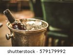 red wine bottle and on ice... | Shutterstock . vector #579179992