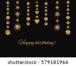 set of garlands made of gold... | Shutterstock . vector #579181966