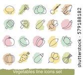 vegetable line icons set.... | Shutterstock .eps vector #579188182