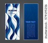 set vertical banners with dark... | Shutterstock .eps vector #579195256