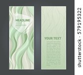 set vertical banners with... | Shutterstock .eps vector #579195322