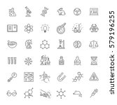 modern thin line icons set of... | Shutterstock .eps vector #579196255