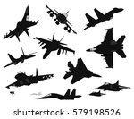 Military Aircraft Silhouettes...