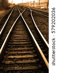 railroad tracks with rails for... | Shutterstock . vector #579202036