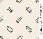 seamless monochrome pencil... | Shutterstock .eps vector #579203782