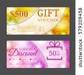 gift voucher template. can be... | Shutterstock .eps vector #579209458