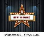 theater sign star shape on... | Shutterstock .eps vector #579216688