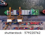container container ship in...   Shutterstock . vector #579220762