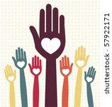 people united vector. | Shutterstock .eps vector #57922171