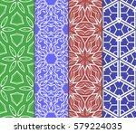 set of decorative floral...   Shutterstock .eps vector #579224035