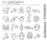big set symbols of charity  aid ...   Shutterstock .eps vector #579229072