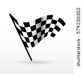 start and finish flags. auto... | Shutterstock .eps vector #579230302