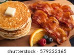 pancakes and bacon | Shutterstock . vector #579232165