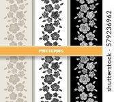 vector seamless pattern stripe... | Shutterstock .eps vector #579236962