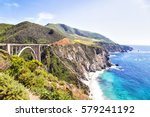 california pacific coast highway | Shutterstock . vector #579241192