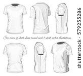 men's short sleeve t shirt. six ... | Shutterstock .eps vector #579255286