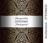 baroque background with antique ... | Shutterstock .eps vector #579258652
