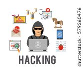 cyber crime and hacking concept ... | Shutterstock .eps vector #579260476