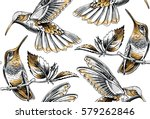 seamless pattern with image... | Shutterstock .eps vector #579262846