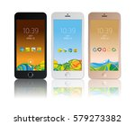 set of mobile interfaces ... | Shutterstock .eps vector #579273382