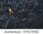 male rock climber. rock climber ... | Shutterstock . vector #579275902