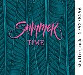 summer time illustration ... | Shutterstock .eps vector #579278596