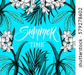 summer time illustration ... | Shutterstock .eps vector #579278602