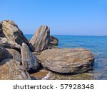 Large Rocks On The Shore Of Th...