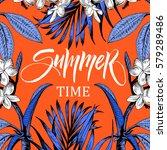 summer time illustration ... | Shutterstock .eps vector #579289486