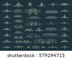 vintage decor elements and...   Shutterstock . vector #579294715