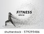 the fitness of particles. the... | Shutterstock .eps vector #579295486