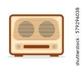 retro radio  retro radio icon ... | Shutterstock .eps vector #579296038
