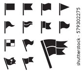 flag vector icon set isolated... | Shutterstock .eps vector #579302275