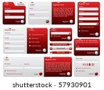 red and silver web forms design | Shutterstock .eps vector #57930901