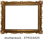 Old Wooden Bronze Color Frame...