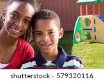 brother and sister in the back... | Shutterstock . vector #579320116
