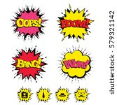 comic boom  wow  oops sound... | Shutterstock . vector #579321142