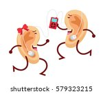 healthy happy and cute human... | Shutterstock .eps vector #579323215