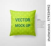 mock up of a pillow in lime... | Shutterstock .eps vector #579334942