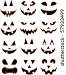 halloween smiles | Shutterstock .eps vector #57933499