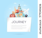 world travel. planning summer... | Shutterstock .eps vector #579340636