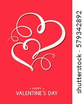 vector valentine's day card on... | Shutterstock .eps vector #579342892