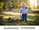 cute little fashion boy... | Shutterstock . vector #579344506